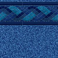 Blue Raleigh Tile, Blue Beach Pebble Floor
