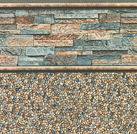 Stacked Stone Tile, Clearwater Tan Floor
