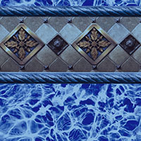 Bayview Blue Tile, Blue Diffusion Floor