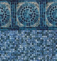 Hand Cut Round Tile, Stonewall Mosaic Floor