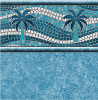 Palm Riviera Tile, Teal Marino Floor