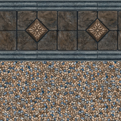 *NEW* Slate Medallion Tile, Clearwater Tan Floor 28/20 mil or 28 mil